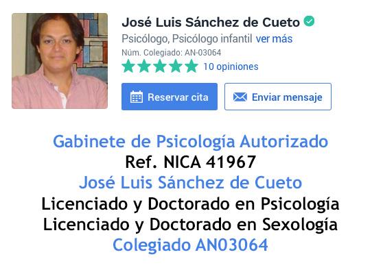 Psicologo en Sevilla, José Luis Sanchez de Cueto